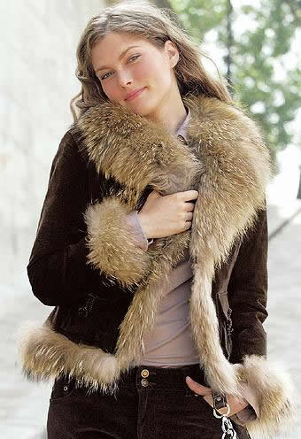 Veste en daim et cuir femme